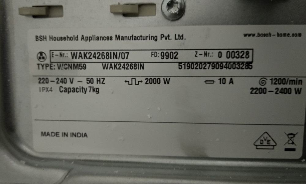 washing-machine-wattage-Bosch