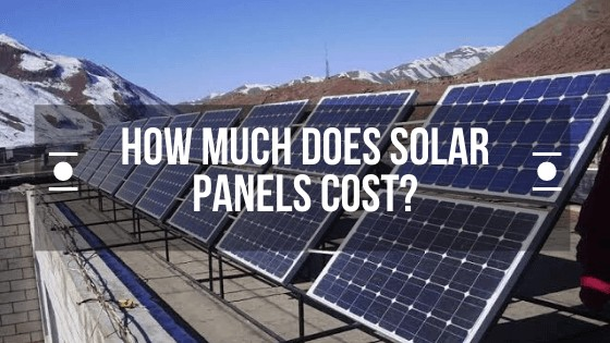 How Much Solar Panels Cost in India?