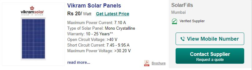 vikram-solar-pricing