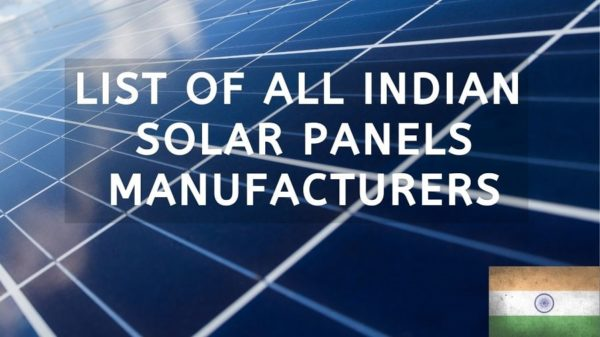 40 Indian Solar Panels Manufacturer (2020)