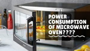 What is the Power consumption of a microwave oven?