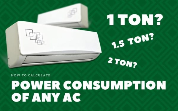 Power consumption of ac