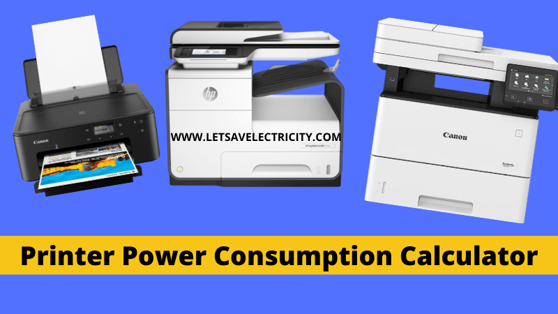 Printer Power Consumption Calculator