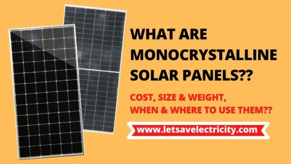 What Are Monocrystalline Solar Panels?