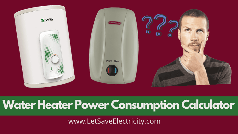 Water Heater Power Consumption Calculator