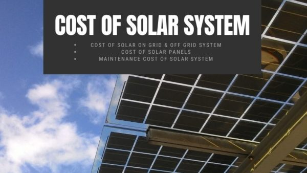 Cost of solar system | Cost of Solar Panels | Maintenance Cost