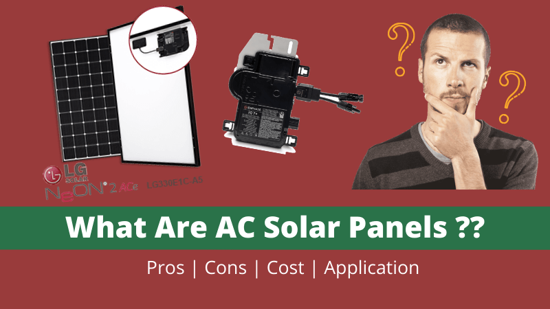 What Are AC Solar Panels?