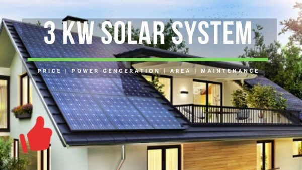 3kW Solar System Price, Power Generation, Area Needed, Maintenance | Honest Review